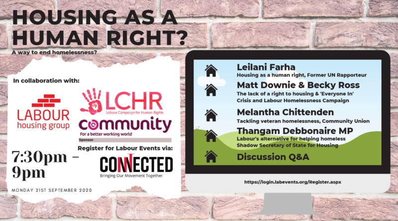 LHG Labour Connected Fringe Event: Housing as a Human Right?